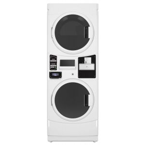 MAYTAG COMMERCIAL MLE22PDAGW - Commercial Electric Super-Capacity Stack Washer/Dryer, Coin Drop-Ready Export Model