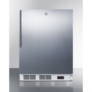SUMMIT VT65ML7SSHVADA - ADA Compliant Commercial All-freezer Capable of -25 C Operation, With Wrapped Stainless Steel Door, Thin Handle, and Lock