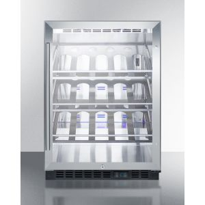 SUMMIT SCR610BLCHCSS - Built-in Undercounter Commercially Listed Wine Cellar With Stainless Steel Interior, Champagne Shelving, Digital Controls, and Stainless Steel Cabinet