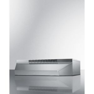 SUMMIT ADAH1630SS - 30 Inch Wide ADA Compliant Convertible Range Hood for Ducted or Ductless Use In Stainless Steel With Remote Wall Switch