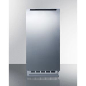 SUMMIT BIM25H34 - Built-in Undercounter Manual Defrost Icemaker With Complete Stainless Steel Wrapped Exterior Finish; No Drain Required