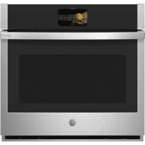 """GE PROFILE PTS9000SNSS - 30"""" Wall Ovens Single, Soft Close, In-Oven Camera"""