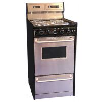 "BROWN STOVE WORKS TEM130BKWY - 20"" Free Standing Electric Range"