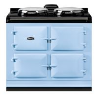 """AGA ADC3EDEB - AGA Dual Control 39"""" Electric Duck Egg Blue with Stainless Steel trim"""