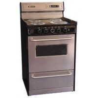 "BROWN STOVE WORKS TEM630BKWY - 24"" Free Standing Electric Range"