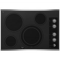 """WHIRLPOOL G7CE3034XS - Gold(R) 30-inch Electric Ceramic Glass Cooktop with 12""""/9"""" Dual Radiant Element"""