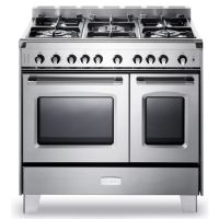 """VERONA VCLFSGG365DSS - Stainless Steel Verona Classic 36"""" Gas Double Oven Range"""