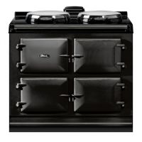 """AGA ADC3EBLK - AGA Dual Control 39"""" Electric Black with Stainless Steel trim"""