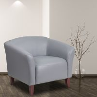 Flash Furniture 111-1-GY-GG Hercules Imperial Series Gray Leathersoft Chair