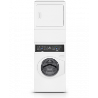 SPEED QUEEN SF7000WE - White Stacked Washer Dryer (Electric)