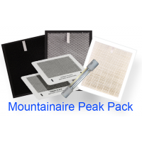 SUNHEAT Peak Pack Complete Set of Replacement Filters. Includes HEPA, Carbon and TI02 Filters, Set of Ozone Plates and UV Germicidal Bulb