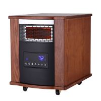 SUNHEAT TW1500-UV Modern Oak Thermal Wave With UV Germicidal Air Purification Infrared Heater with Remote Control - Modern Oak